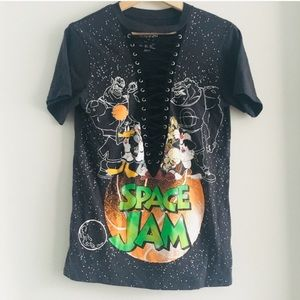 Space Jam Lace Up Women's Graphic Tee Small